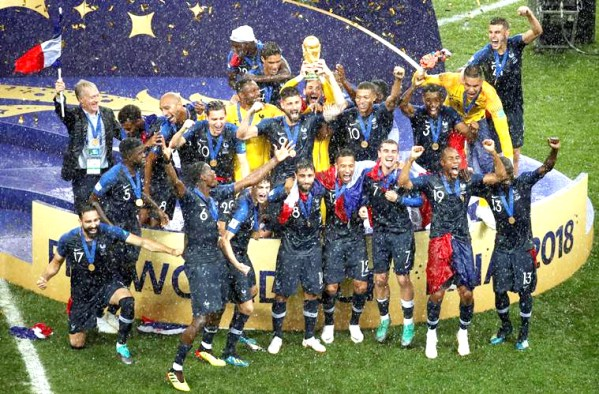 France wins 2nd FIFA World Cup title, beat Croatia 4-2