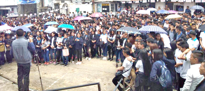 ANCSU stages peaceful dharna