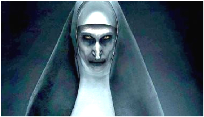 The Nun set was blessed to keep demons away