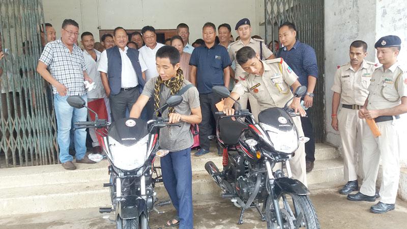 NDPP Dimapur Region distributes motorcycles
