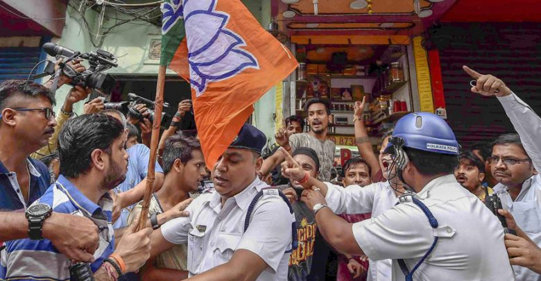 Violence during BJP-sponsored bandh in WB; 1,600 people arrested