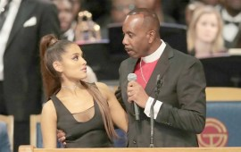 Bishop accused of touching Ariana Grande inappropriately apologises