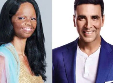 Akshay gives Rs 5 lakh to acid attack survivor