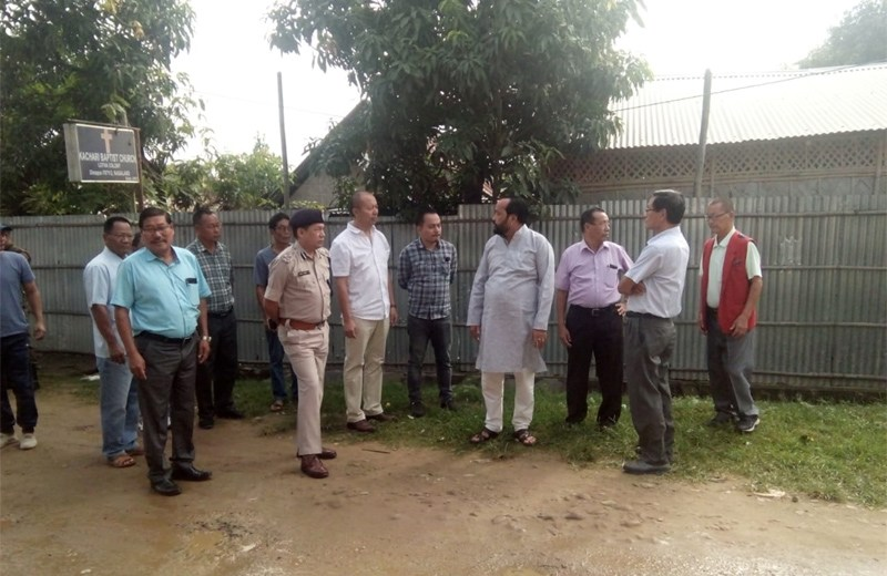 Patton inspects proposed  improvement of Dimapur city roads