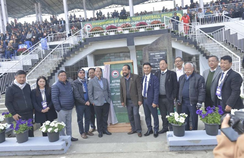 Nagaland gets first Astro Turf Football ground