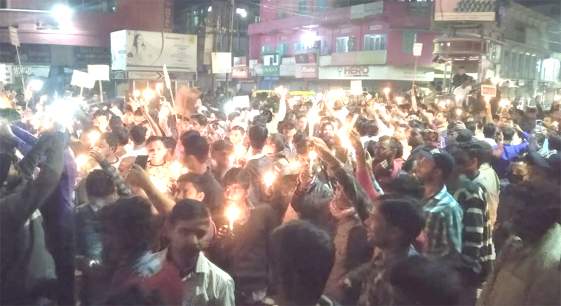 Pulwama attack: Candlelight Vigil organized in Dimapur