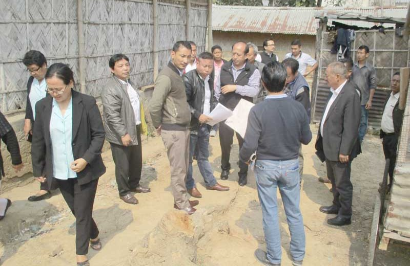 Inspection land of under  Dimapur Dist Hospital done