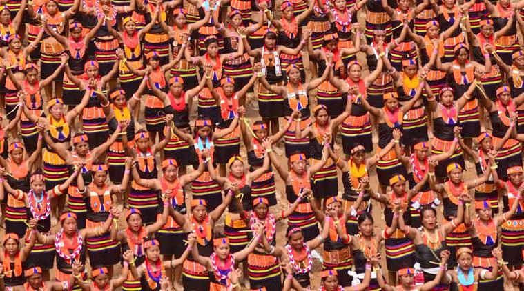 4,700 Konyak Naga women dance together to set world record