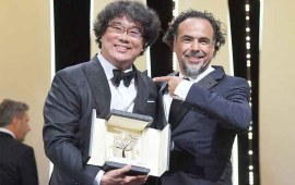 South Korean director Bong Joon-ho wins Cannes' top prize for Parasite