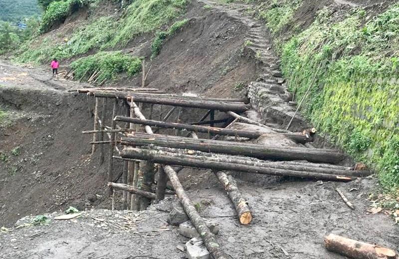 Landslide in Pfutsero cuts off road to Phek
