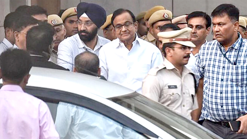 Chidambaram sent to Tihar jail for  14 days in INX Media corruption case