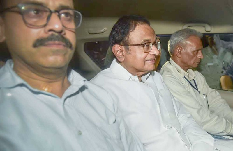 Chidambaram arrested by CBI  in INX media case