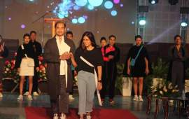Model Opang Jamir walks for  Naga-Tech Fest Fashion Show 2019