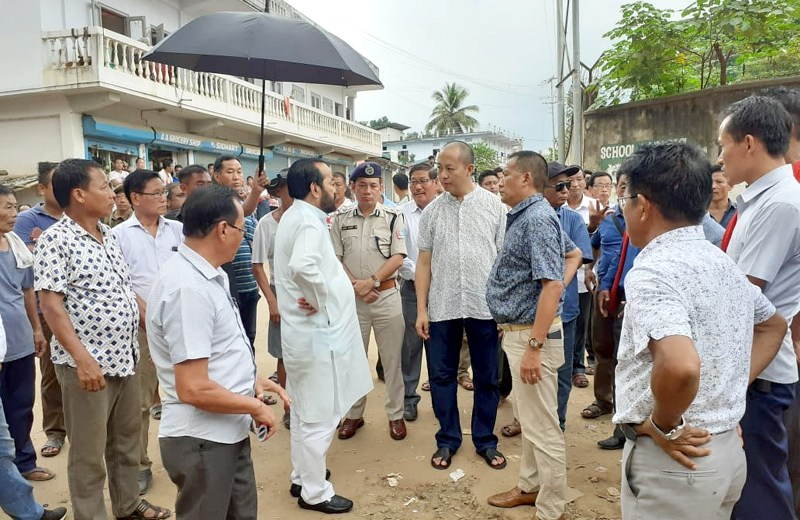 Patton inspects road improvement works in Dimapur