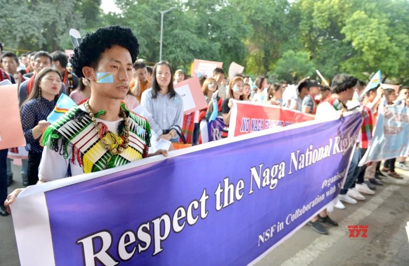 Students rally for Naga solution in Delhi