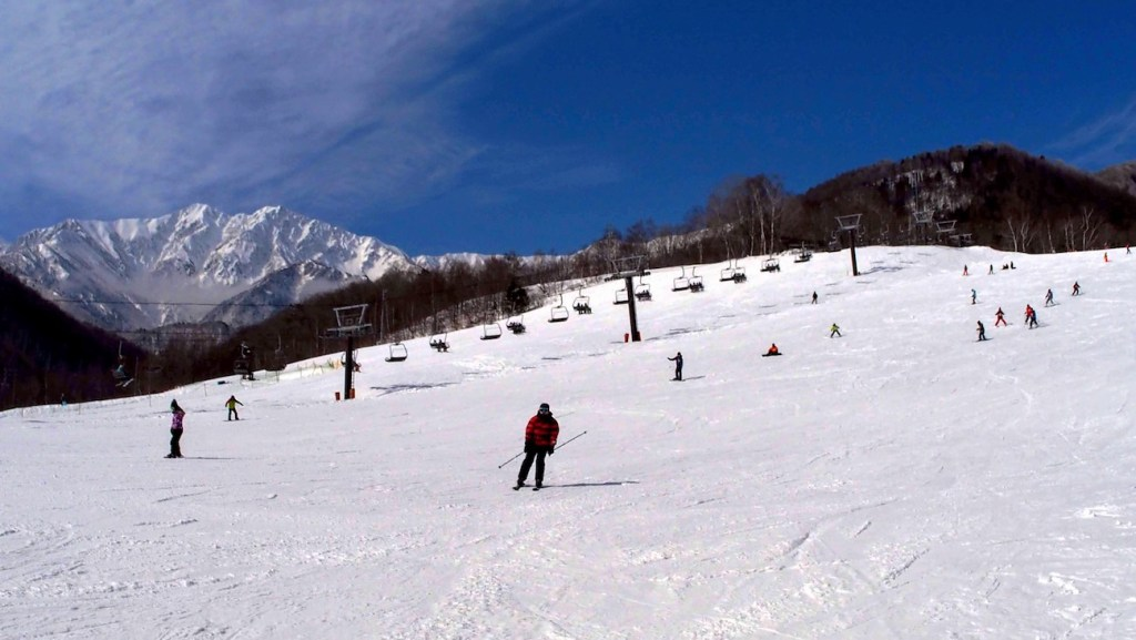 Kashimayari ski resort at winter in hakuba, nagano