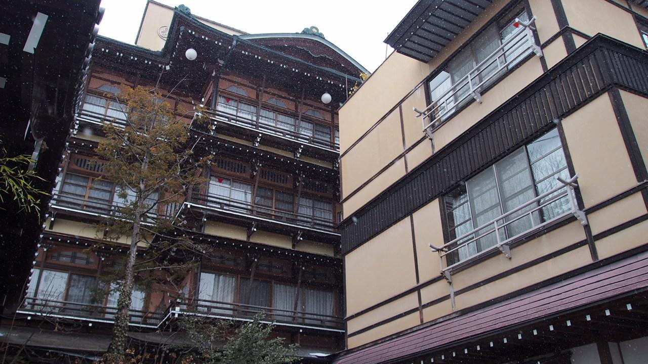 Shibu hot spirng in Yamanouchi town, Nagano