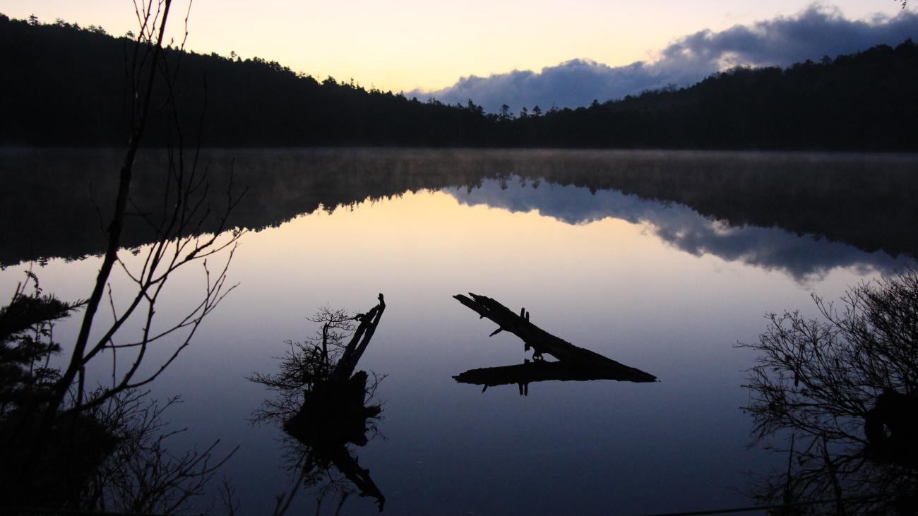 Shirakoma pond in nagano