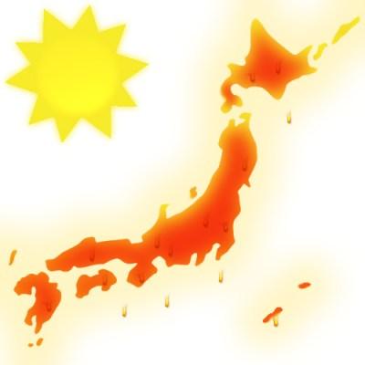 真夏の日本列島