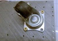installation de la roulette sur pivot de R.Ian
