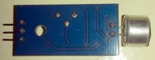 Capteur de son binaire, vue arrière du circuit.