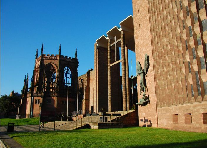 Coventry Cathedral - Eingangsbereich | Querformat | Foto: Klaus Wirbel