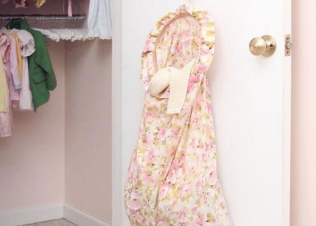 Хранение вещей в шкафу: мешок для всякой всячины