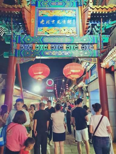Targ z jedzeniem w Pekinie.