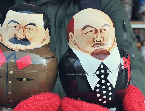 Lenin i Stalin w Petersburgu.