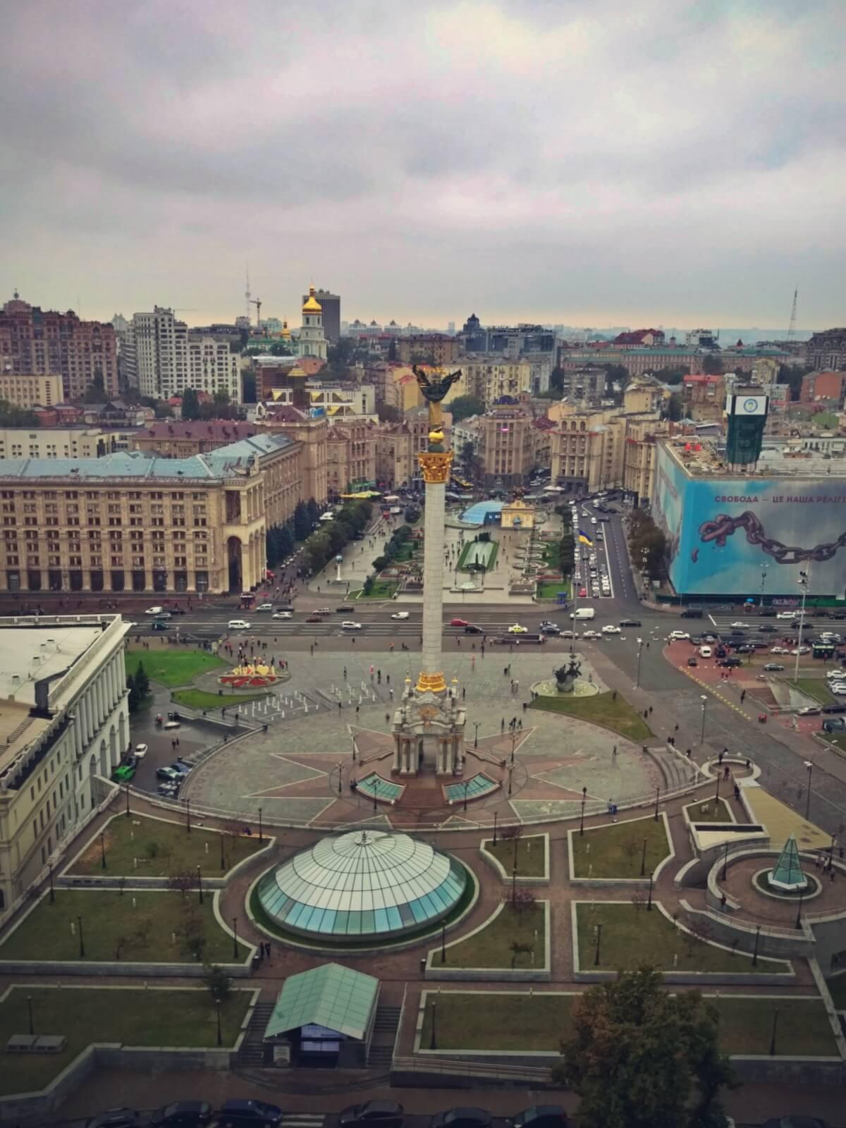 Kijowski Majdan to Plac Niepodlegości.