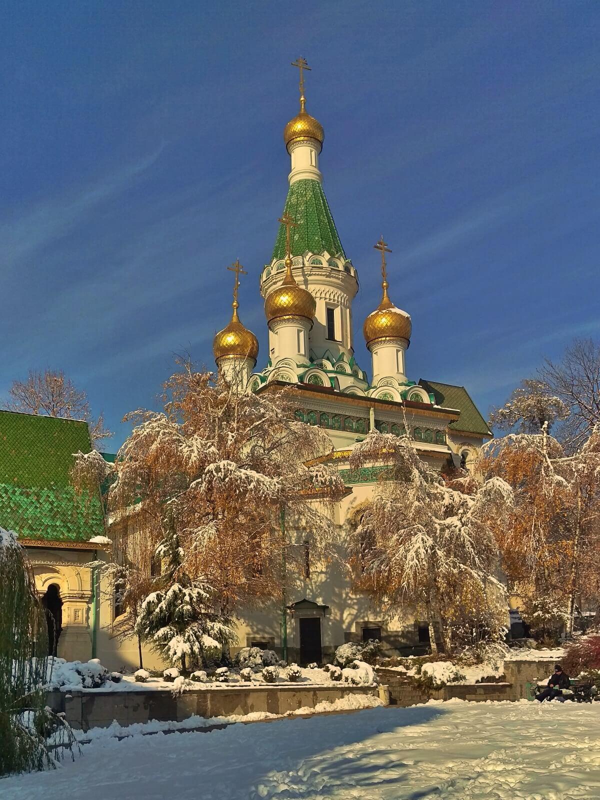 Prawosławny kościół w Sofii.