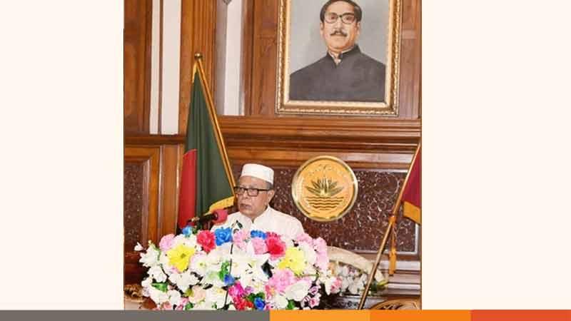 নিজে ভালো থাকি, অন্যকে ভালো রাখি: রাষ্ট্রপতি