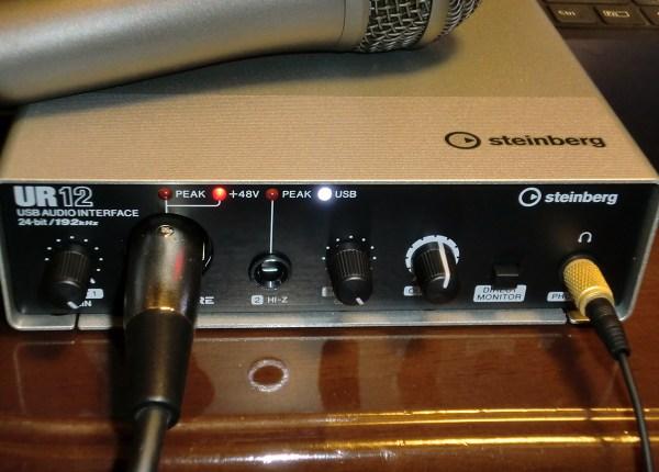 Steinberg スタインバーグ オーディオインターフェイス UR12 を買ってみた!