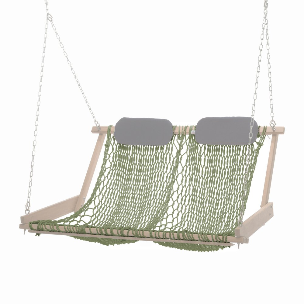 rope chair swing faux fur cover double seat
