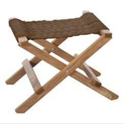 Folding Chair Replacement Feet Papasan Covers Cumaru Rope Footstool