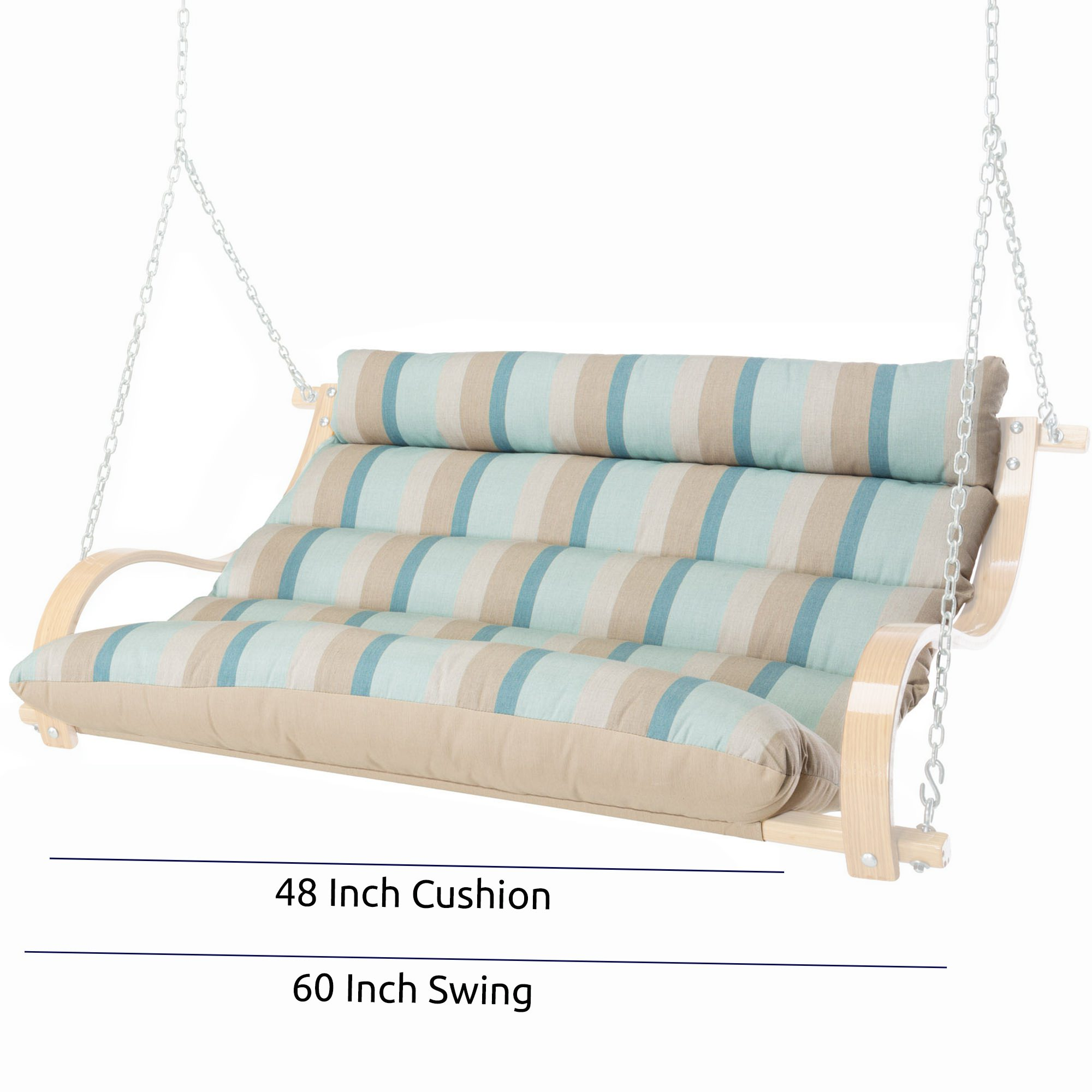 48 Inch Replacement Cushion For 60 Inch Cushioned Double