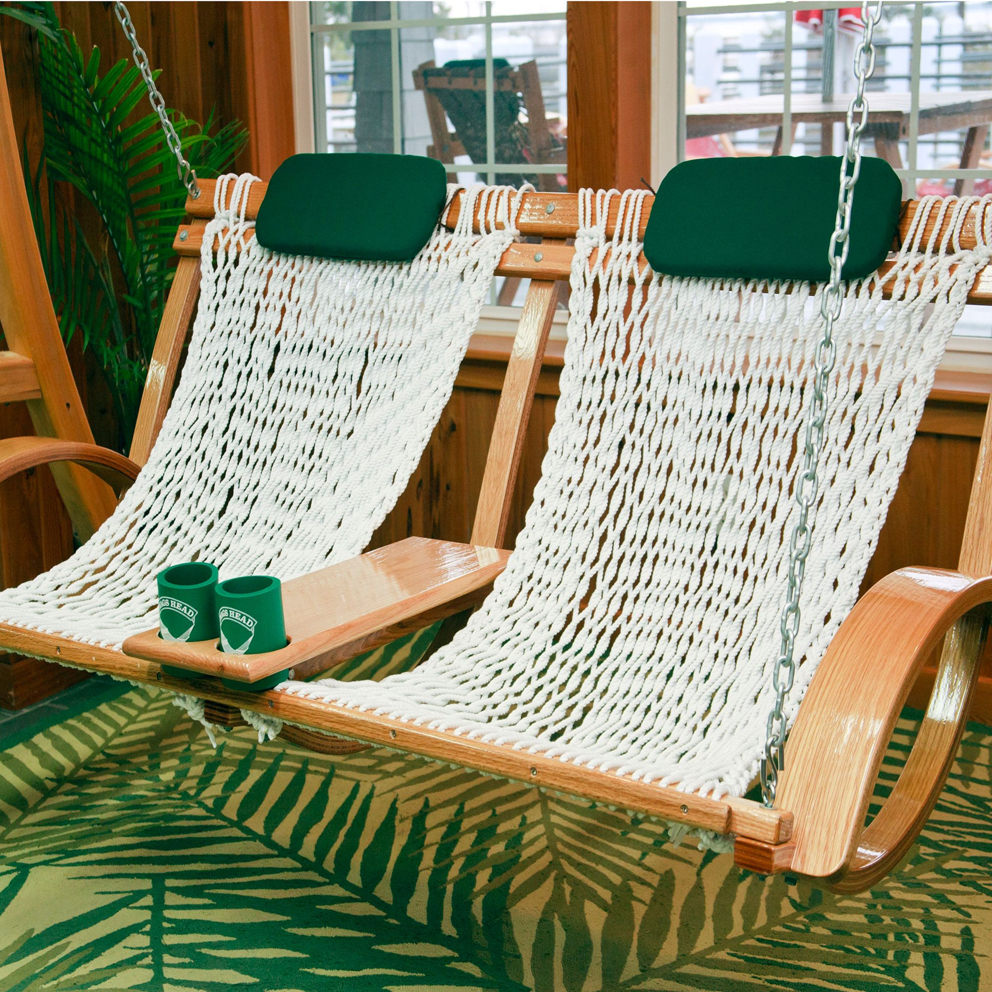 hammock chair frame diy black fabric dining chairs deluxe bent oak porch swing