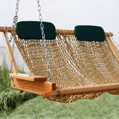 Hanging Chair Double Canvas Sling Plans Deluxe Rope Porch Swing