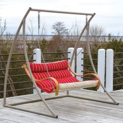 Steel Hammock Chair Stand Canvas Covers Nz Curved Taupe Metal Double Swing On Sale Swsc2t