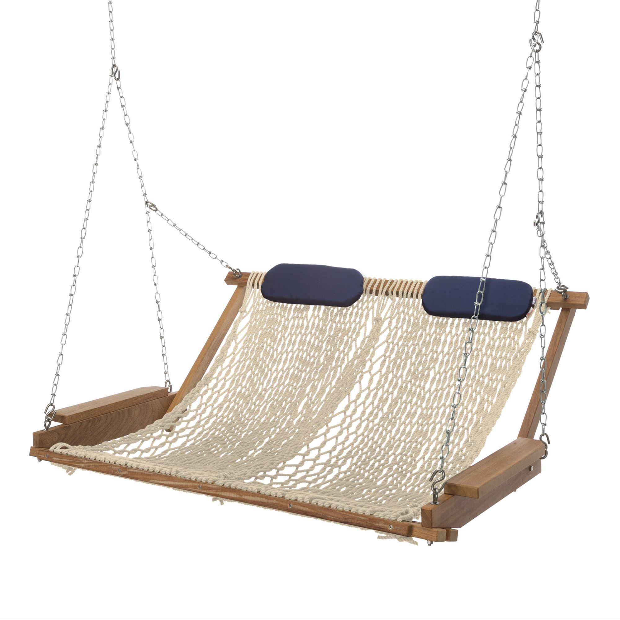 hammock chair instructions unfinished wooden kits cumaru deluxe rope porch swing nags head hammocks