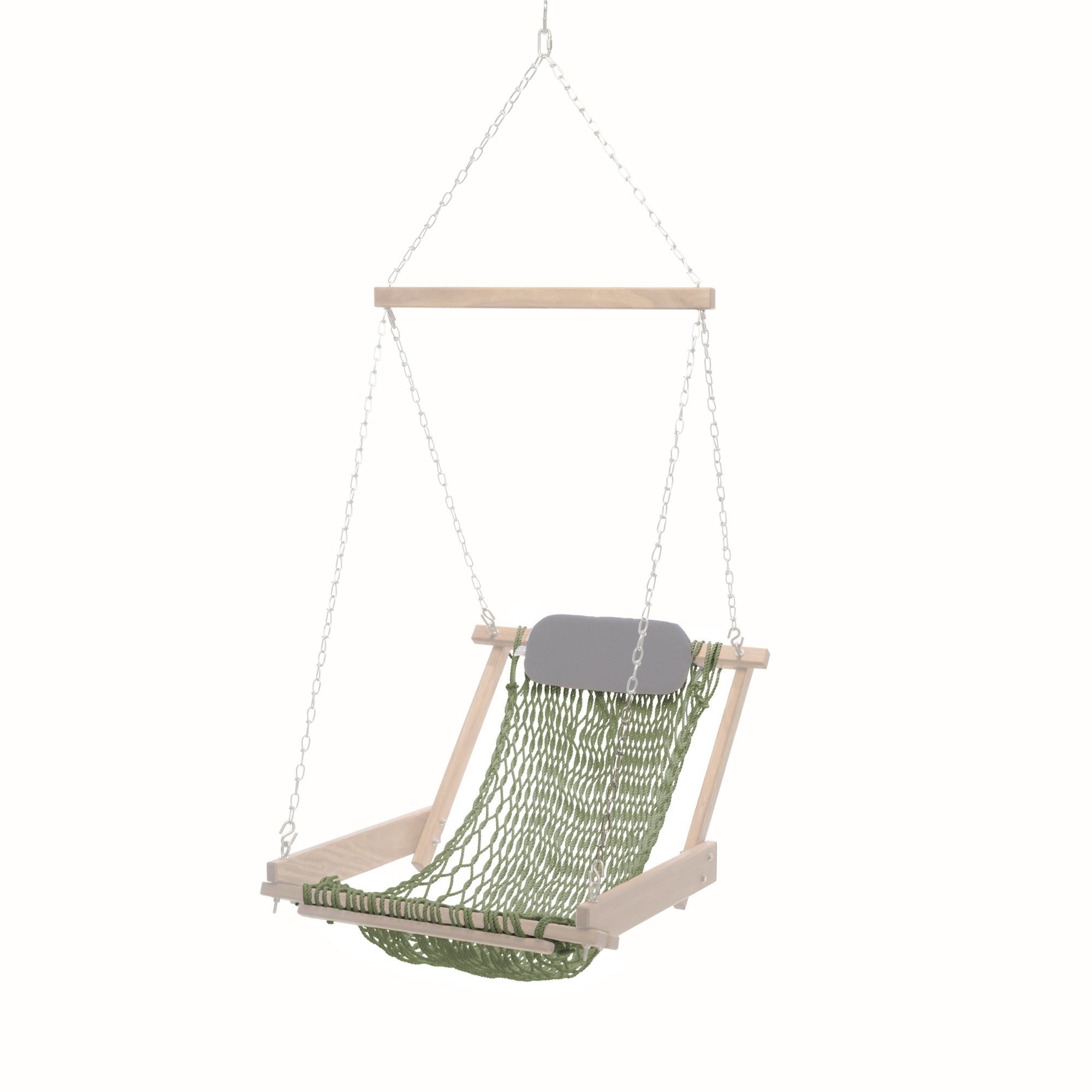 rope chair swing and stand optometry single seat cumaru replacement