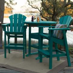 Adirondack Style Dining Chairs Jysk Canada Chair Covers Shop Durawood Bar Height Tables On Sale High Table