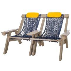 Rope Chair Swing Stand Eskimo Fishing Weatherwood Durawood Double Nags Head