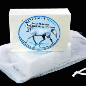 Naturally white horse soap in bag