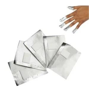 Aliuminio folija geliniam lakui nuimti 10 vnt.