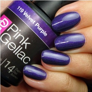 Profesionalus ilgalaikis gelinis lakas Pink Gellac Velvet Purple 15 ml