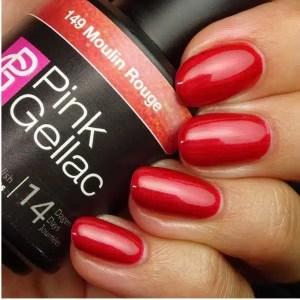 Profesionalus ilgalaikis gelinis lakas Pink Gellac Moulin Rouge15 ml