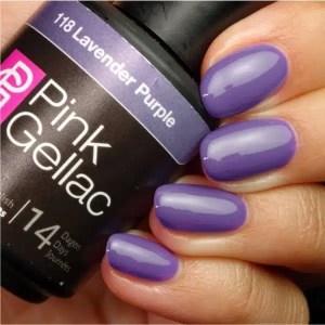 Profesionalus ilgalaikis gelinis lakas Pink Gellac Lavender Purple 15 ml