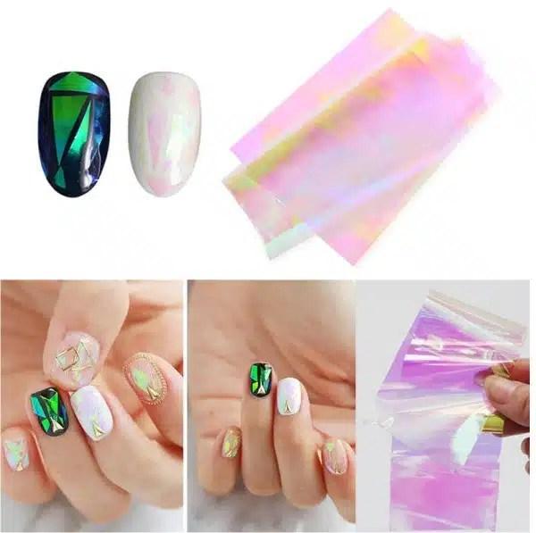 Folija – stikliniams nagams 5 spalvų
