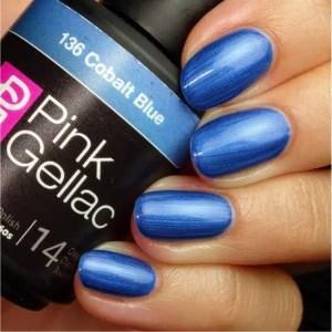 Profesionalus ilgalaikis gelinis lakas Pink Gellac Cobalt Blue 15 ml